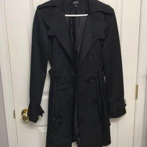 Suzy Shier Black Trench Coat